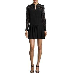 Rebecca Taylor Long-Sleeve Paisley Silk Dress